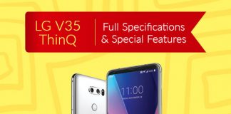 LG V35 ThinQ Full Specifications & Special Features