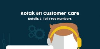 Kotak 811 Customer Care Numbers: Kotak 811 Contact & Toll free Helpline No.