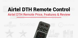 Airtel DTH Remote Control: Airtel DTH Remote Price, Features & Review