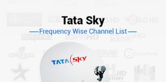 Tata Sky Frequency 2019: List of Tata Sky Channel Signal Frequency