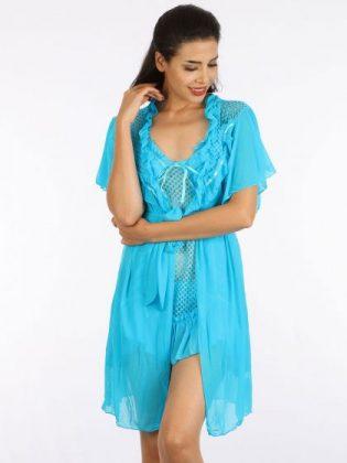 Babydoll Nightwear in skyblue color