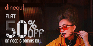 Dineout Flat 50% Off Offer