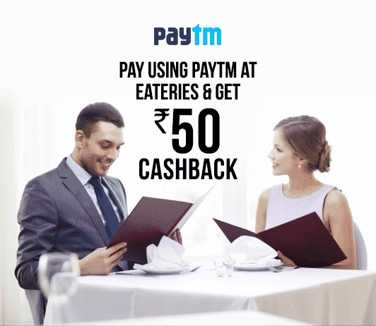 Paytm Top Eateries 3 Pe 50 Offers