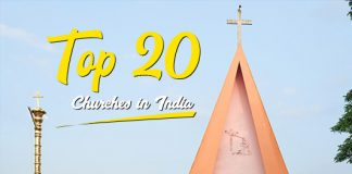 top 20 churches in india
