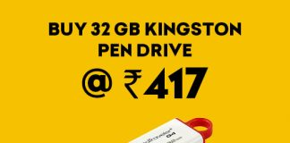 32 GB Kingston Pen Drive at Just Rs 417