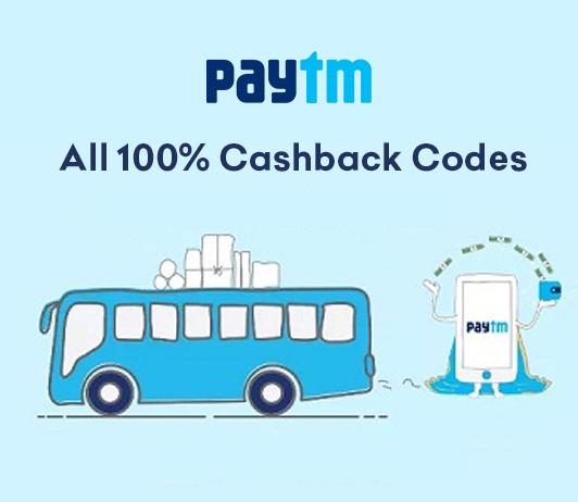Paytm Bus Offer - 100% Cashback Codes