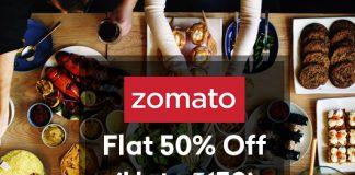 Zomato Pickup Offer - Flat 50% Off Upto Rs 150