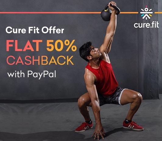 CureFit PayPal Offer