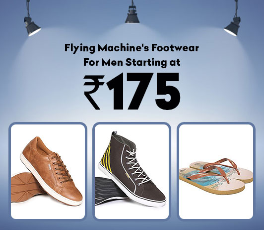 Flying Machine's Footwear For Men Starting At Rs.175/-