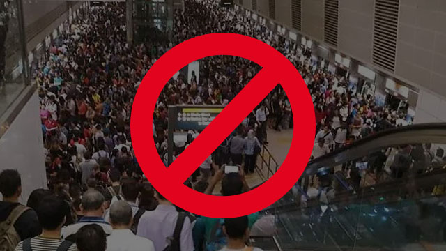 Avoid crowded areas