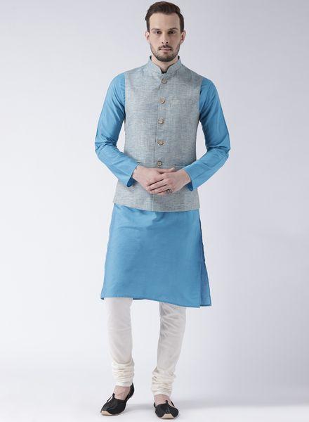 8 Punjabi Style Kurta Pajama With Jackets Designs Images Price