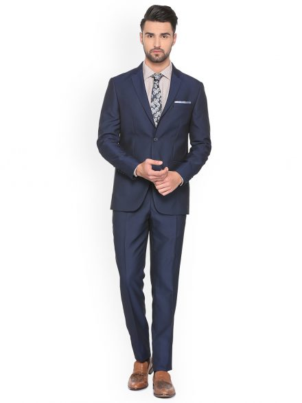 Peter England Navy Blue Suit