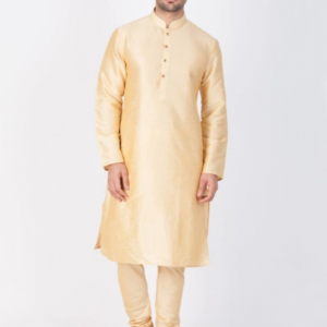 Silk Wedding Kurta Pajama Look