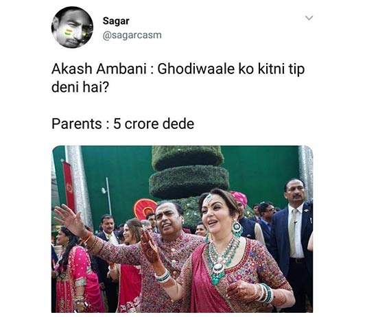 Ambani Wedding Meme