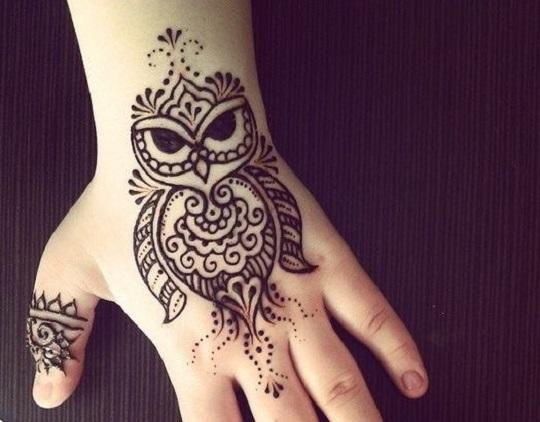 owl mehndi